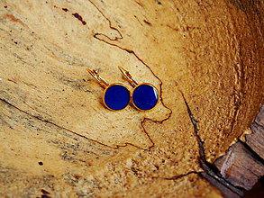 Náušnice - Drobné náušničky v kráľovskej modrej farbe - 7074670_
