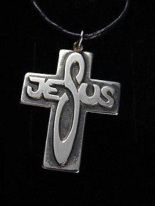 Náhrdelníky - Jesus krížik - 7075168_