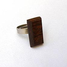Prstene - Mahagónový obdĺžniček - 7074737_