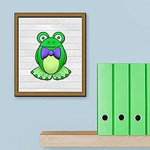 Obrázky - Žabky, pozadie imitácia bieleho dreva - 7075145_