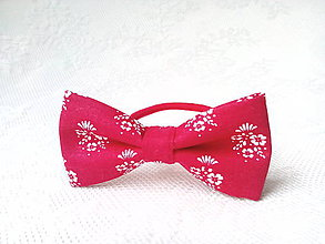 Ozdoby do vlasov - Red folklore hair bow - 7077967_