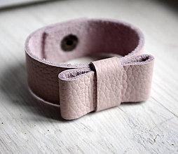 Náramky - Kožený náramok - 7078848_