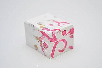 Prstene - Krabička - Ružová abstrakcia - 7078450_