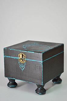 Krabičky - Krabička - Šperkovnička - Pohľad na hviezdnu oblohu - 7078878_
