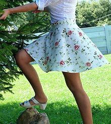 Sukne - Sukňa šípové ruže - 7077881_