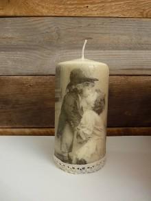 Svietidlá a sviečky - Sviečka - zaľubená - 7079480_