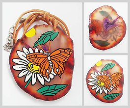 Náhrdelníky - Motýľ a Margaréta - 7079505_