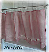 Úžitkový textil - lněná záclonka starorůžovááá... š.145xd.45cm - 7079066_