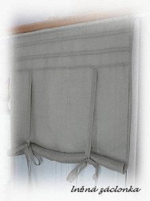 Úžitkový textil - NOVINKA lněná roletka natural š.95xd.140cm - 7079040_
