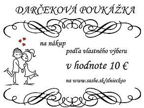 Darčekové poukážky - Darčeková poukážka 10 € - 7079414_