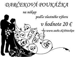 Darčekové poukážky - Darčeková poukážka 20 € - 7079466_