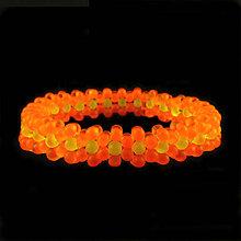 Náramky - Kvetinkový náramok (oranžový neon) - 7079511_