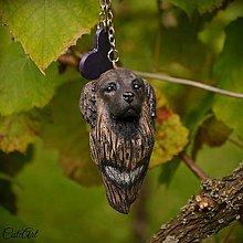 Kľúčenky - Kaukazský ovčiak - kľúčenka podľa fotografie - 7079193_
