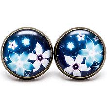 Náušnice - Blue flower - 7077074_