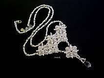 Náhrdelníky - Pred polnocou (náhrdelník) - 7077490_