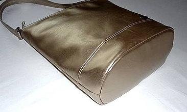 Kabelky - Taška - Zlatá metalíza. - 7076564_