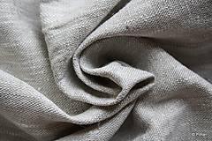 Textil - 100% Ľanové plátno režné hrubé - 7082276_