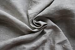 Textil - 100% Ľanové plátno režné hrubé - 7082277_
