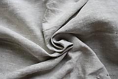 Textil - 100% Ľanové plátno režné hrubé - 7082279_