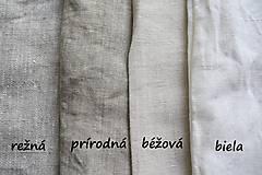 Textil - 100% Ľanové plátno režné hrubé - 7082646_