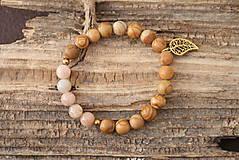 Náramky - Náramok jaspis a slnečný kameň - 7082954_