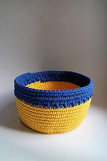 Košíky - Košík - Žltý modrý MAXI | BOBBINY - 7081380_