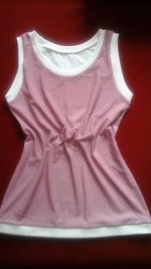 Topy - Bielo ružový krajkový top - 7080785_
