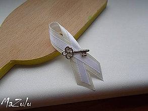 Pierka - svadobné pierko s kľúčikom pre šťastie II. - 7083298_
