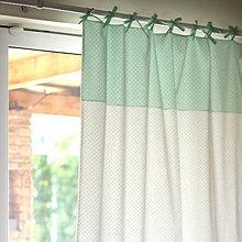 Úžitkový textil - ZATEMŇOVACÍ ZÁVES bodkovaný, pastelová zelená - 7080170_