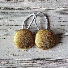 Detské doplnky - DETSKÉ gumičky do vlasov Zlaté - 7083595_