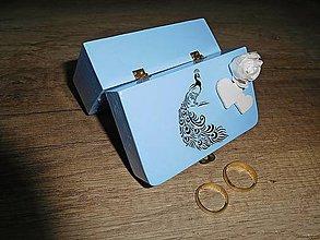 Prstene - krabička na svadobné prstienky 3 - 7080130_