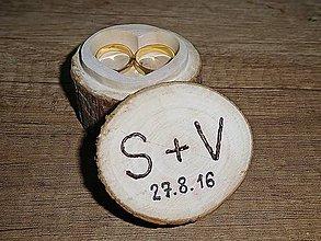 Prstene - vintage krabička na svadobné prstienky 4 - 7080334_