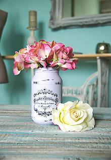Dekorácie - Fialová Vintage sklenená dekorácia váza - 7083199_