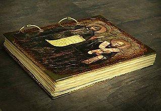 Papiernictvo - Cyril a Metod,Proglas v hlaholike,kráľovský vintage zápisník/Diár 2020 - 7081591_