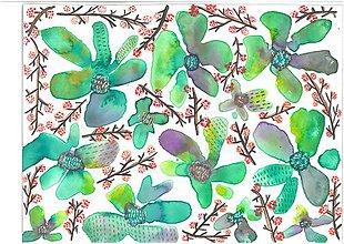 Kresby - zelená - 7080106_