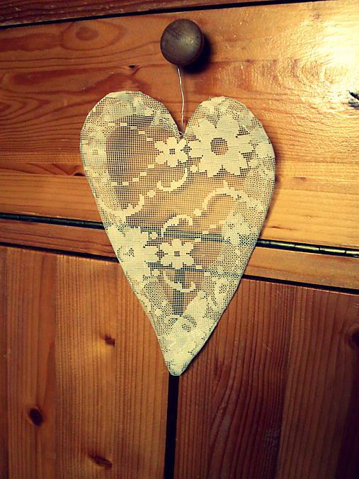 2ca245236 Vintage srdce záclonkové / LubiLove - SAShE.sk - Handmade Dekorácie