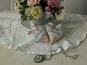 Darčeky pre svadobčanov - srdiečka \