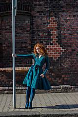 Šaty - Zavinovací šaty MOLLY, lahvová zelená, vel 36 - 7085002_