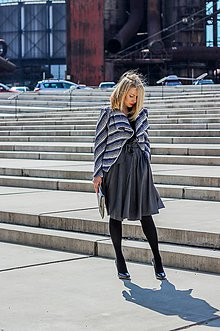 Sukne - Sukně ELIS, tmavší šedá - 7087608_