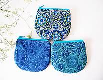 - Peňaženka - zeleno-modrá s mandalami - 7085968_