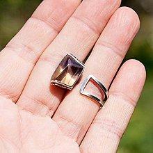 Prstene - Strieborný prsteň - Hommage á cubisme - 7086483_