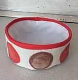 Košíky - textilný košík - oranžový - 7085830_