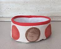 Košíky - textilný košík - oranžový - 7085831_