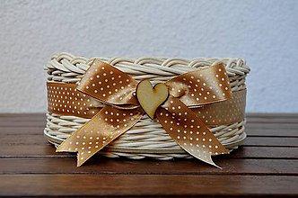 Košíky - Svadobný košíček - 7086737_