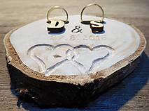 - vintage svadba/vankúšik pod svadobné prstene III - 7084018_