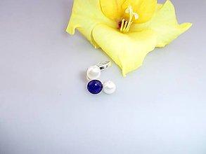 Prstene - lapis pravé perly prsteň strieborný - 7084165_