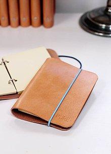 Papiernictvo - Kožený zápisník / karisblok A6 (MINI NATURAL /12 variant /) - 7084755_