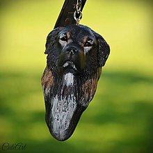 Kľúčenky - Kaukazský ovčiak II. - kľúčenka podľa fotografie - 7084119_