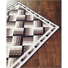 Úžitkový textil - Elegantný patchworkový obrus - 7086799_