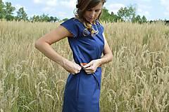 Šaty - Modré šaty - 7087179_